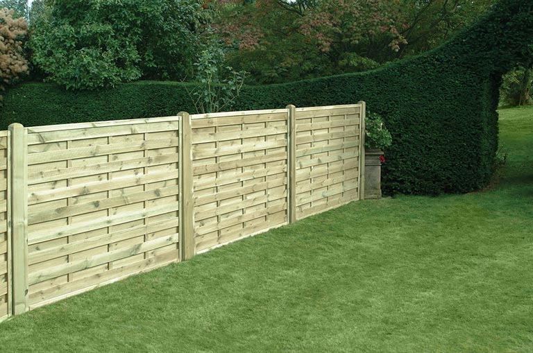 Square Horizontal Panels Home Ark Fencing Decking And Landscape