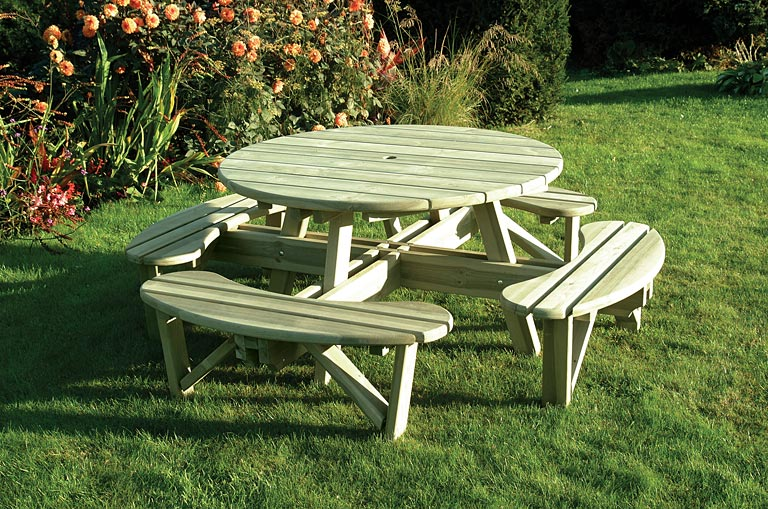 Elite Round Table Amp Bench Seat Home Ark Fencing Decking